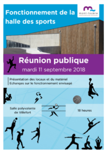 Photo Elu(s) de la commune La halle des sports sort de terre …
