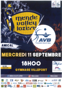 Match amical Mende Volley Ball Vs Avignon Volley Ball